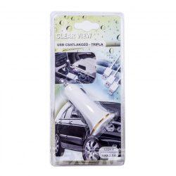 CV Szivargyújtó 3db USB-vel  CV003