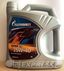 GAZPROM Motorolaj Super 15W40 4L